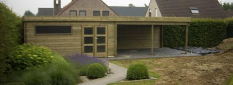 Poolhoouse met 40m2 - JD Houtconstruct