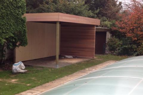 Moderne Poolhouse - JD houtconstruct