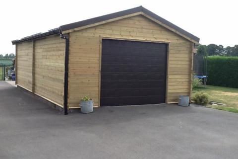 verhoogde garage 50m2 - JD Houtconstruct