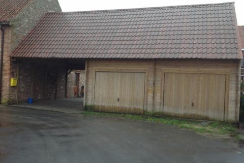 Dubbele garage met carport - JD Houtconstruct