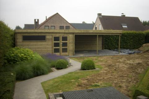Tuinhuis met loungeruimte - JD Houtconstruct