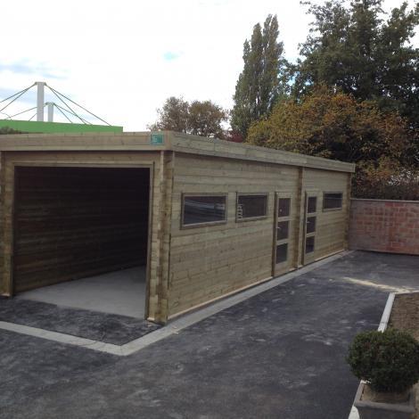 Garage met opslagruimte - JD Houtconstruct