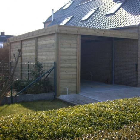 Aangebouwde carport - JD Houtconstruct
